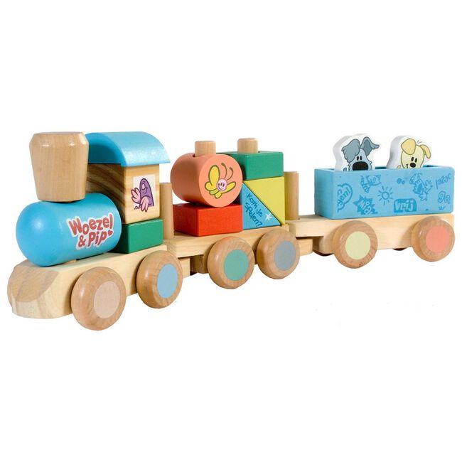 Woezel en Pip houten trein - Multi