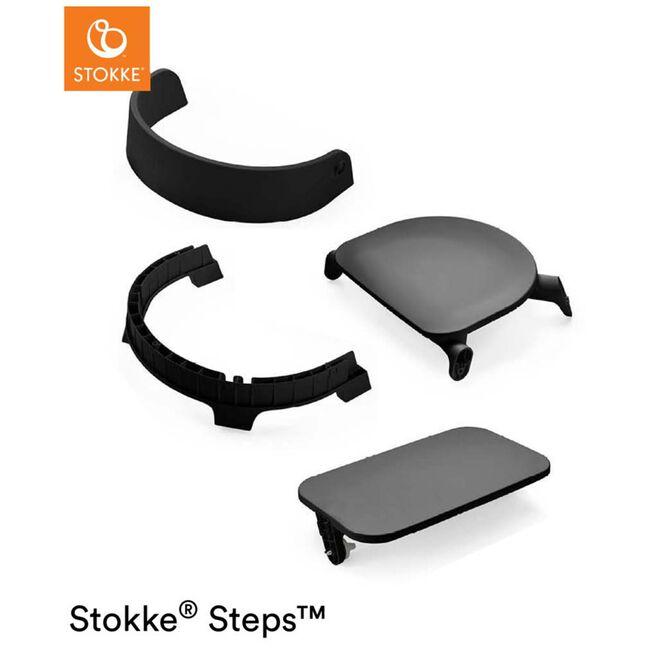 Stokke Steps kinderstoel (zitting + voetenplank) - Black