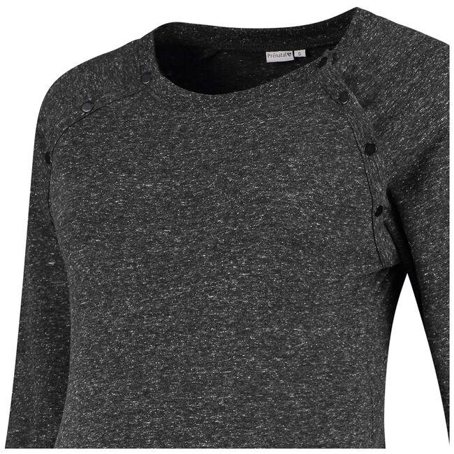 Prenatal voedings sweater - Grey Melee Dark