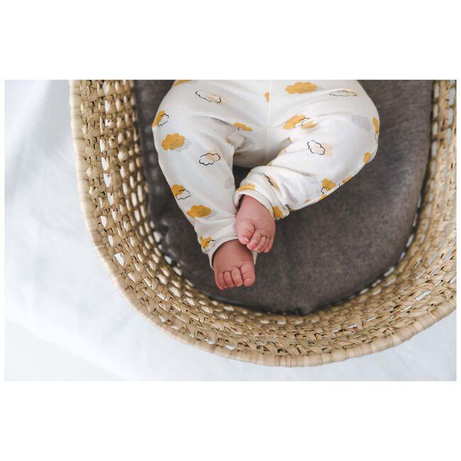 Prénatal newborn unisex broekje met wolkenprint - Onbehandeld/Naturel