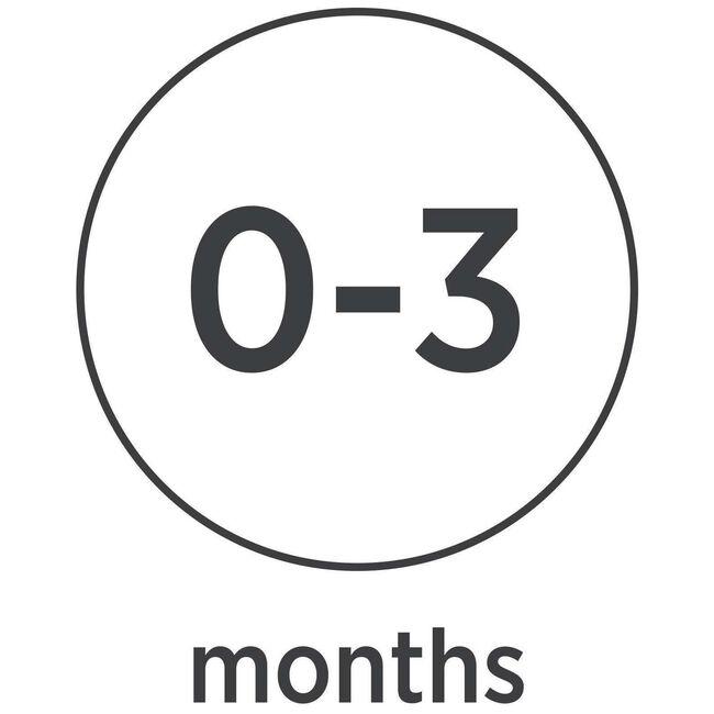 Hevea fopspeen rond 'classic' 0-3 maanden 100% natuurrubber - Mintgreen