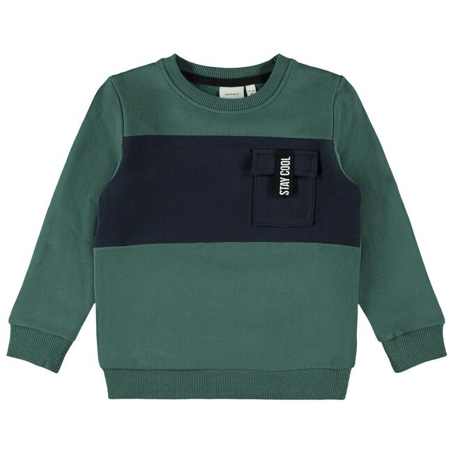 Name it peuter jongens sweater - Green