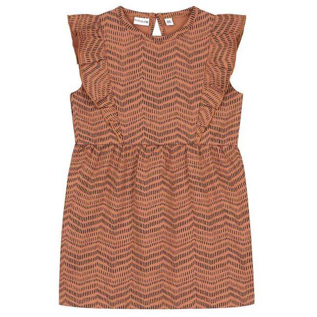 Prénatal baby meisjes jurk - Brown