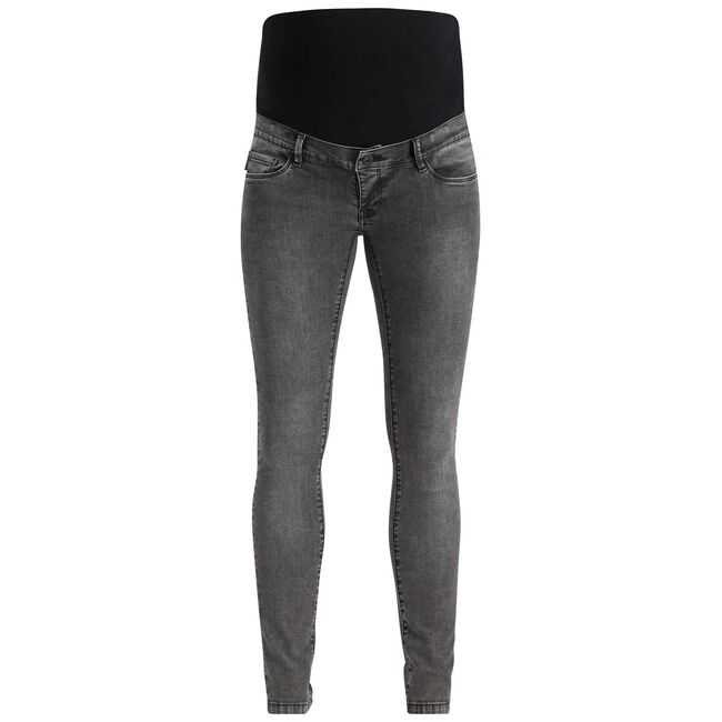 Supermom zwangerschaps broek - Grey/Black Denim