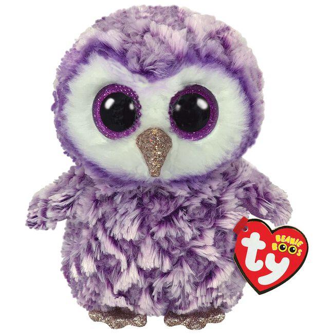 TY beanie boo's moonlight owl 15cm - Multi
