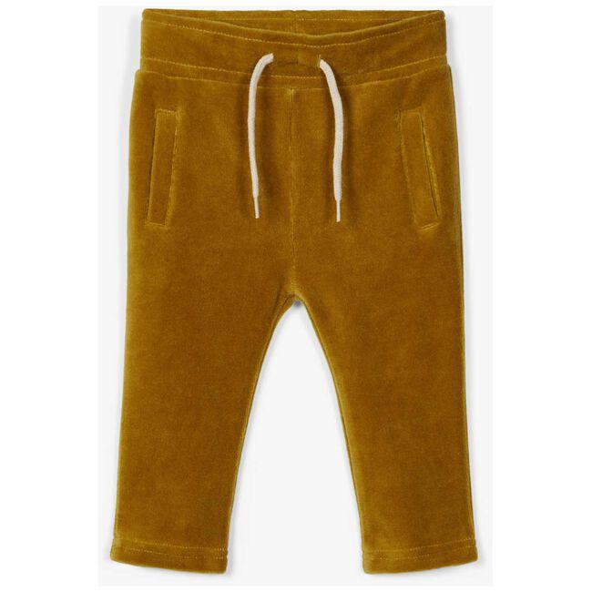 Lil Atelier jongens broek - Dark Yellow Melange