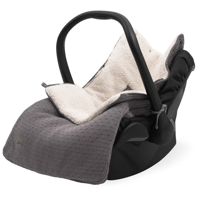 Jollein voetenzak autostoel groep 0 Bliss Knit - Storm Grey