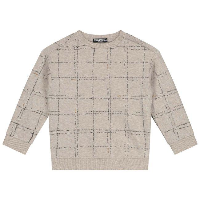 Sweet Petit baby jongens sweater Steff - Mid Ecru Melange