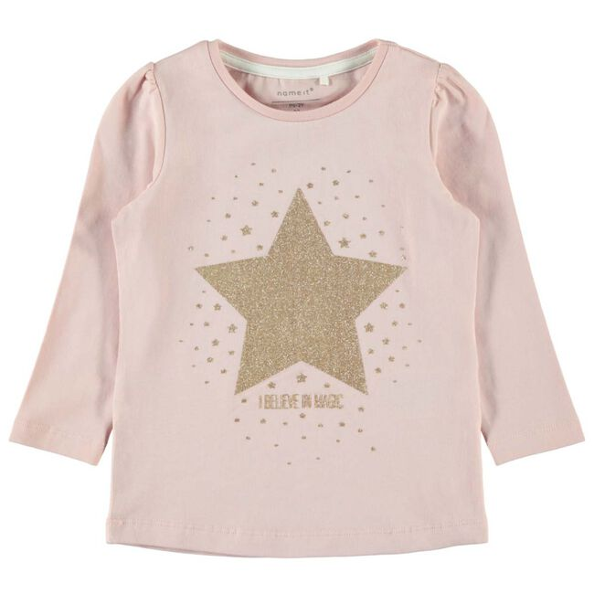Name it peuter meisjes T-shirt - Mid Pink