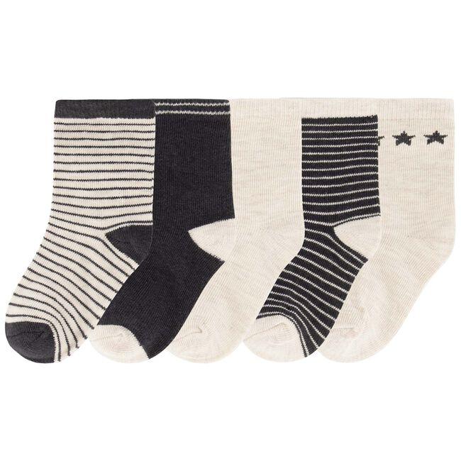 Prénatal jongens sokken 5 stuks - Mid Grey Melange