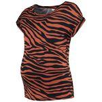 Prenatal zwangerschaps T-shirt - Dark Orange Shade