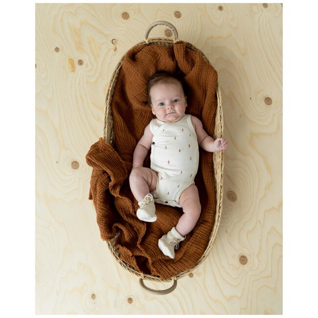 Prénatal newborn slofjes Pure - Dark Ecru Melange