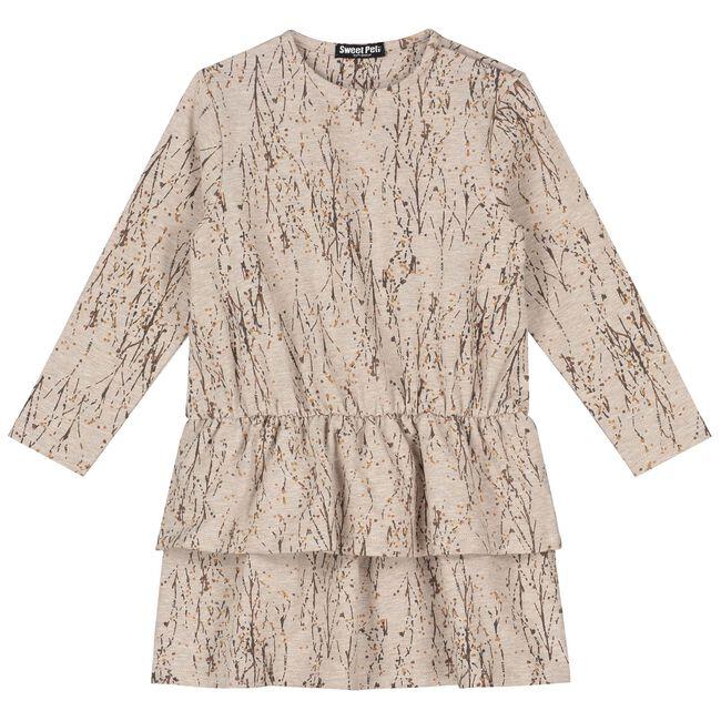 Sweet petit peuter jurk Britte - Mid Ecru Melange