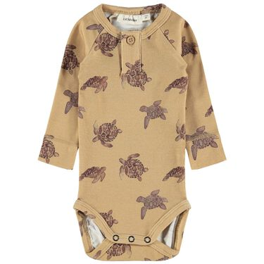 Lil' Atelier romper - Yellow Brown