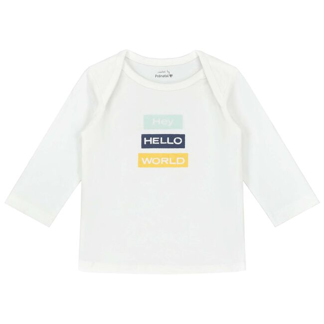 Prénatal newborn jongens shirt - White