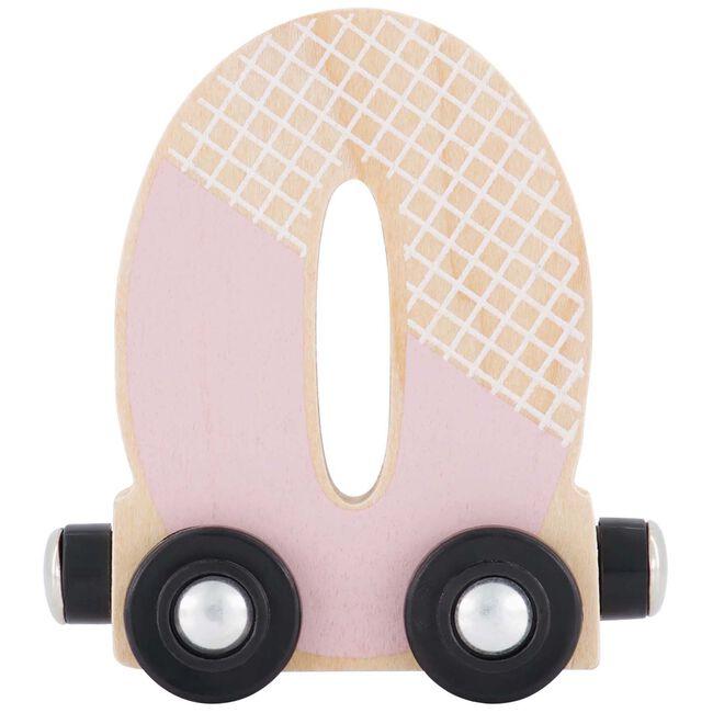 Prénatal houten namentrein letter O - Pink
