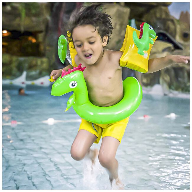 Swim Essentials zwembandjes 2-6 jaar dino - Green