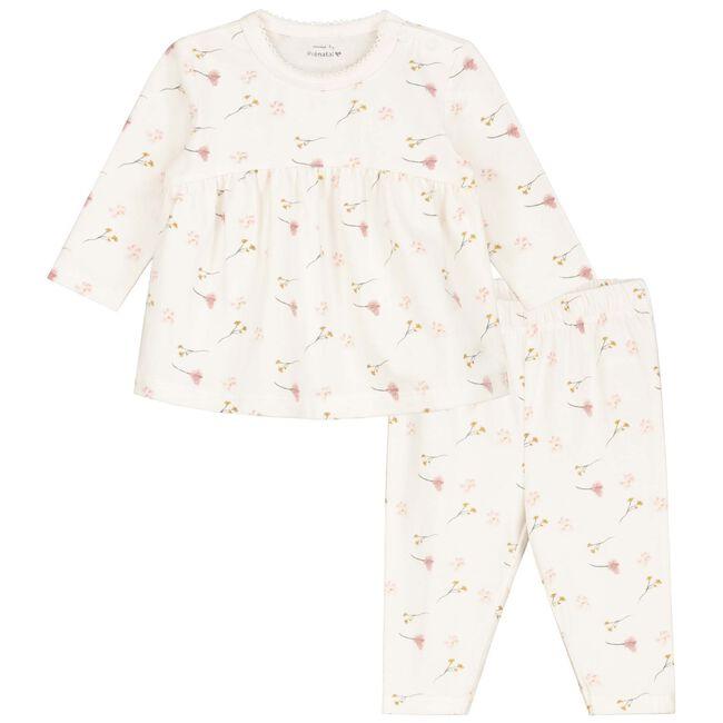 Prénatal baby meisjes pyjama - Ivoor Wit