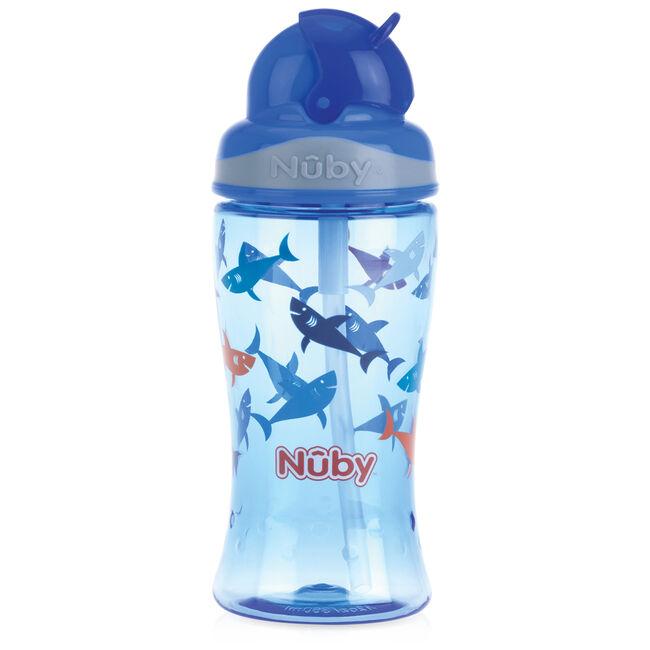 Nuby Flip-it rietjesbeker 18+ maanden - Blue