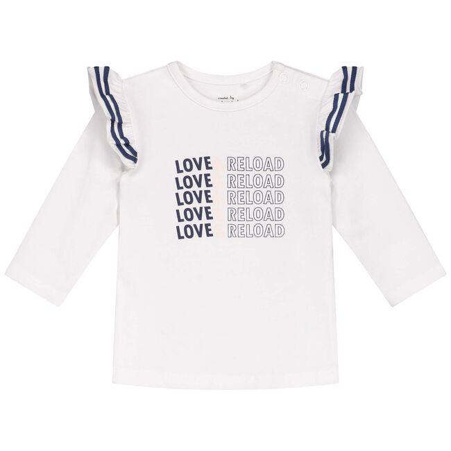 Prenatal baby meisjes T-shirt - White