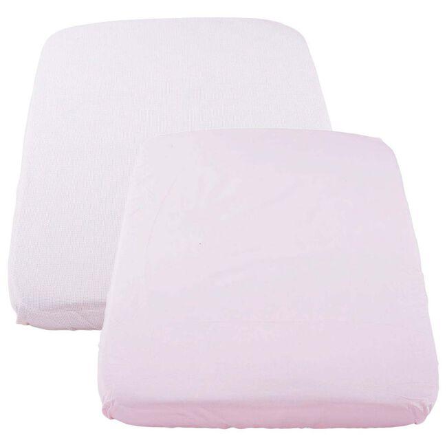 Chicco Next2me hoeslaken Pois Pink - 2 stuks - Pink