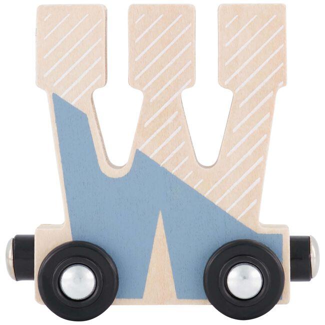 Prénatal houten namentrein letter W - Blauw