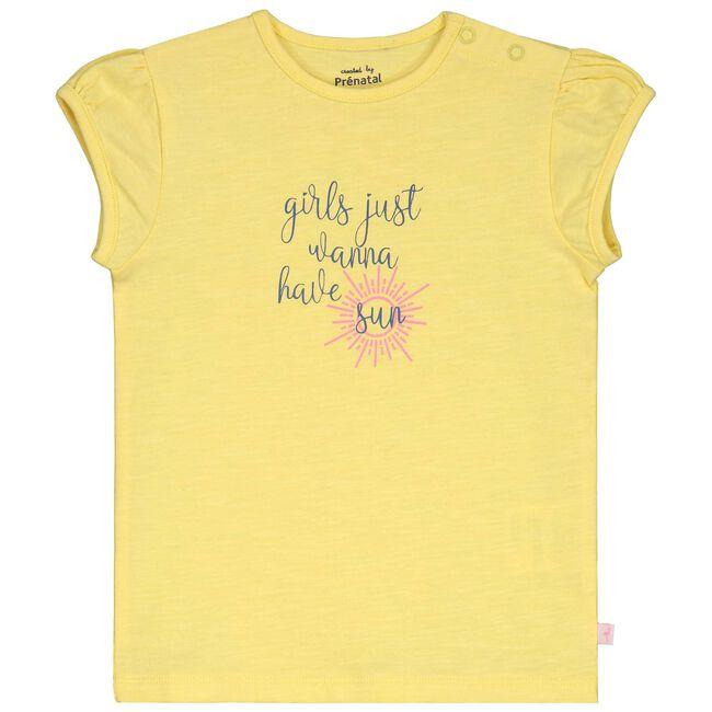 Prenatal peuter meisjes T-shirt - Light Lemon Yellow