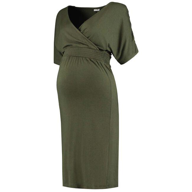 Prenatal overslag zwangerschapsjurk - Dark Olive Green