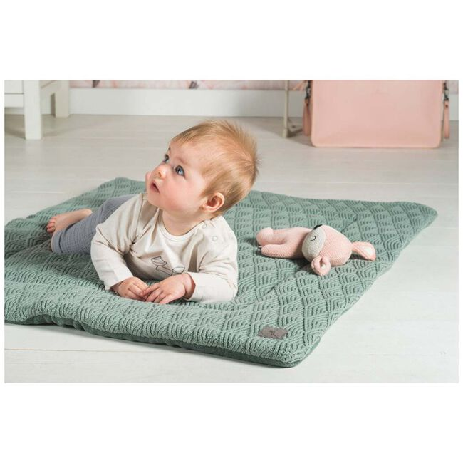 Jollein boxkleed 80x100cm - River knit - Green Grey