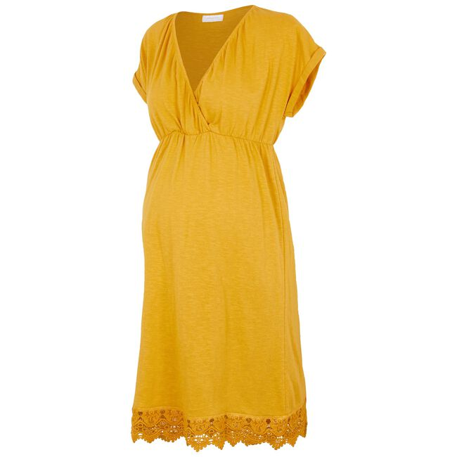 Mamalicious zwangerschaps jurk - Orange Yellow