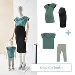 Shop the look - Twinning T-shirt groen -