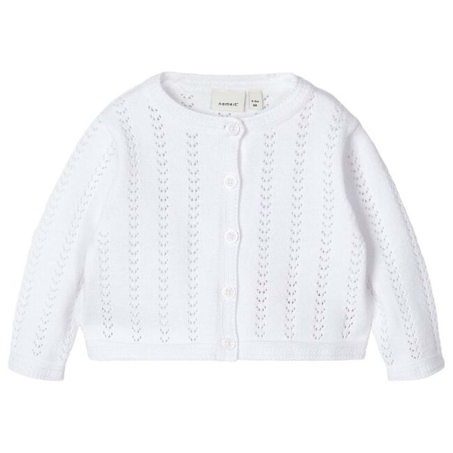 Name it baby meisjes vest - White