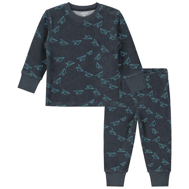 Prenatal peuter pyjama jongens - Dark Bluegrey