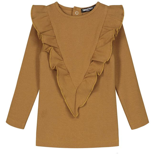 Sweet petit peuter top Ilse - Yellow Brown