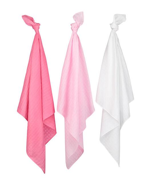 Prenatal multidoek hydrofiel roze - Rosered