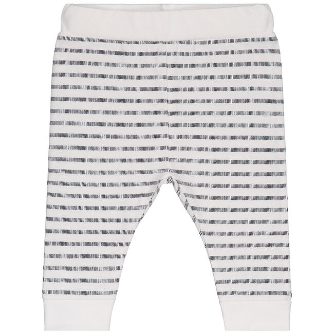 Prénatal newborn jongens broekje gestreept - White