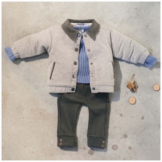 Sweet Petit baby jongens jas Noah - Black/Brown