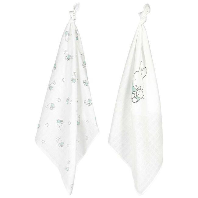 Prénatal hydrofiele doek Nijntje - Mintgreen