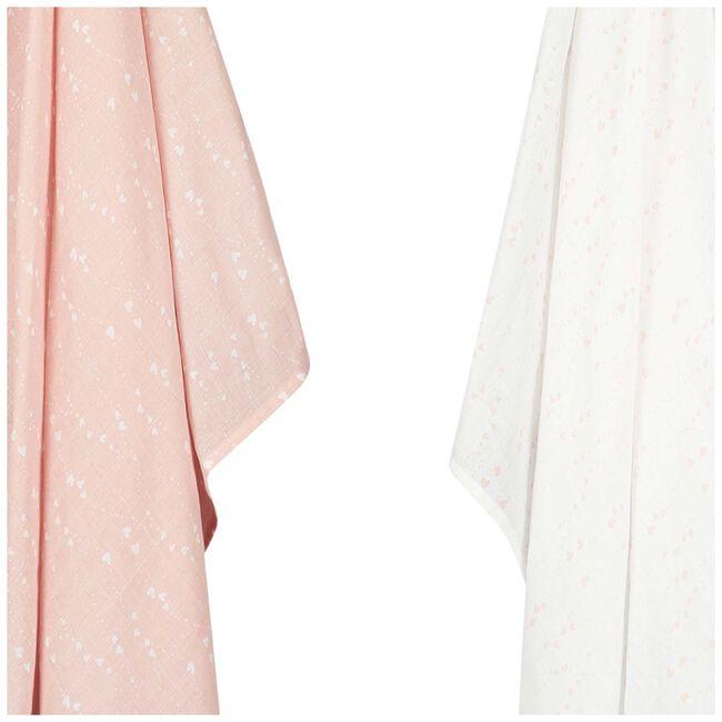 Prénatal hydrofiele doek pink hearts - Light Pink