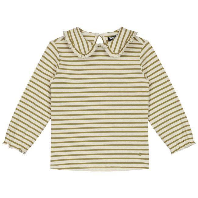 Sweet Petit baby meisjes T-shirt Lotte - Soft Ecru Melange