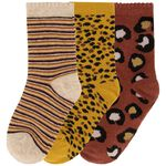 Prénatal meisjes sokken 3 stuks - Red Brown