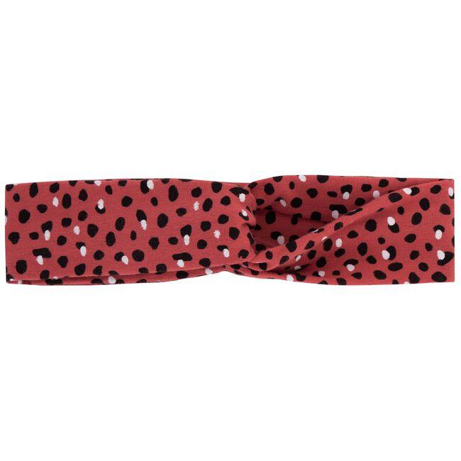 Prénatal meisjes haarband - Dark Coral Red