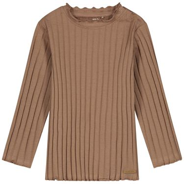 Prénatal peuter shirt rib - Light Taupe Brown