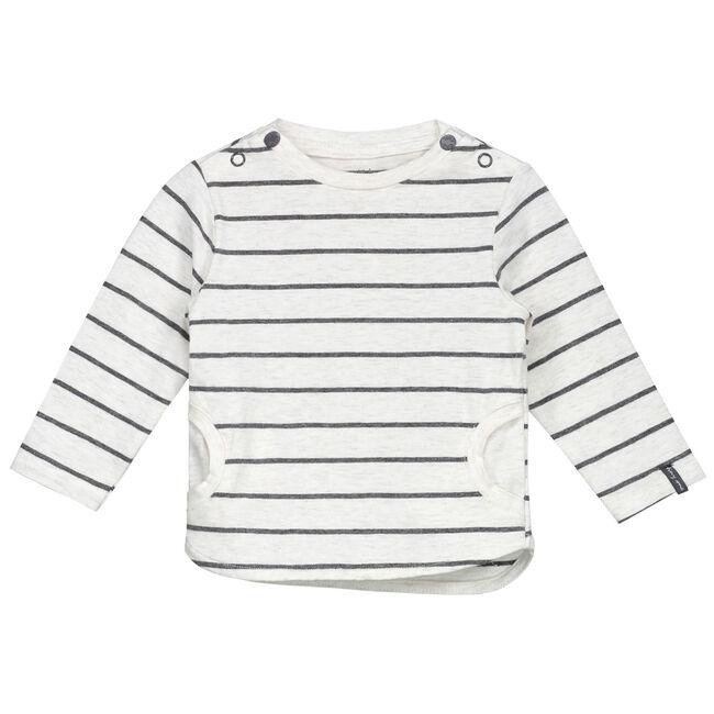 Prenatal newborn unisex shirtje gestreept - Darkgrey