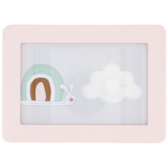 Prenatal fotolijstje regenboog slak - Pink