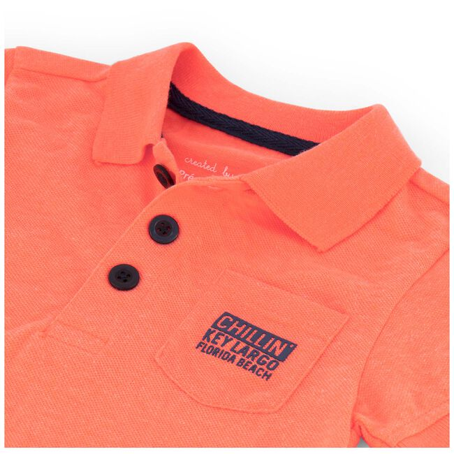 Prénatal baby jongens polo - Neon Orange