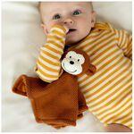 Prénatal knuffeldoekje aap little knits -