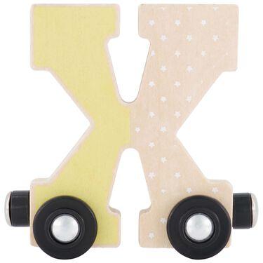 Prénatal houten namentrein letter X -