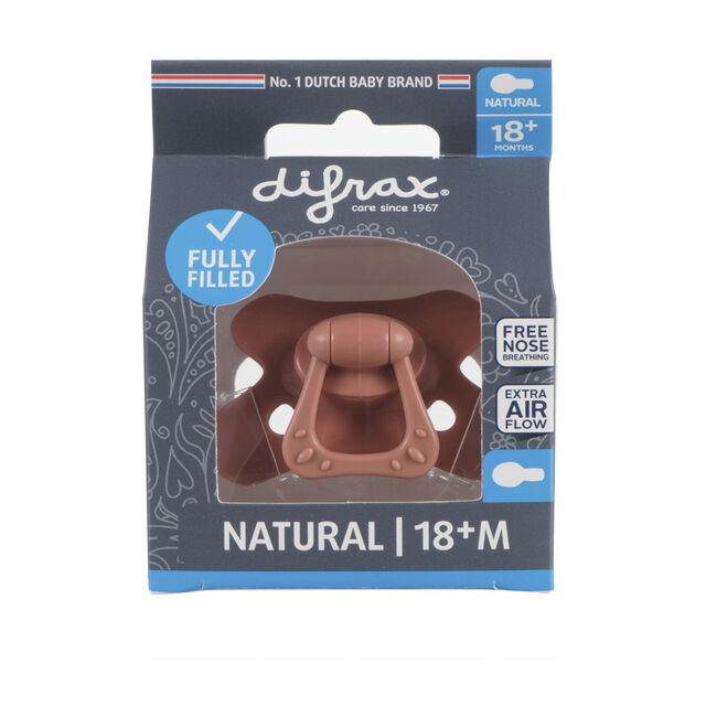 Difrax 18+mnd fopspeen Pure - Brown