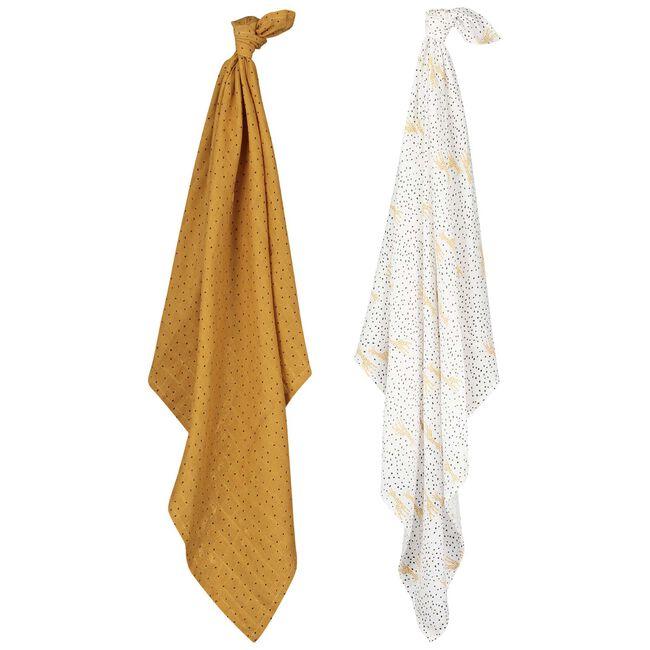 Prénatal hydrofiele doek giraffe - Yellow
